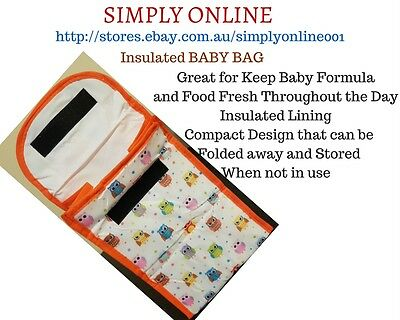 2 Pack of  Insulated Baby Bag - Bubba Bags - keep food and Milk Fresh - Kids