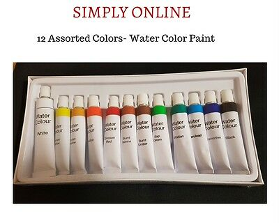 Water Colour Paints  12 Assorted color  - Artist and Craft Use - Free Shipping