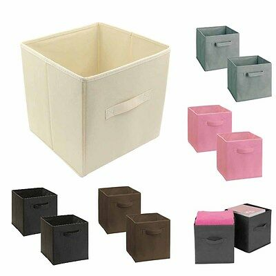 3PK Folding Fabric Storage Bin Box Kids Toy Organizer Cube Special Offer