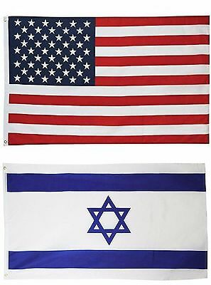 Wholesale LOT of 3' X 5' USA AMERICAN & 3' x 5' ft Israel Israeli Flag