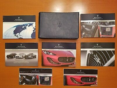 2014 Maserati Granturismo And Sport Convertible   Owners Manual Set With Case.