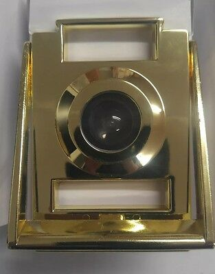 Brass plated door viewer with knocker and 2 frame for name and Apt. number