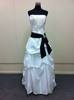 Strapless taffeta wedding gown with heavily beaded bodice (was $1795) Ray w2322L