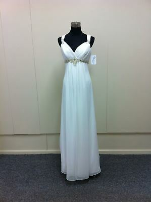 Full length chiffon wedding gown with beading (was $1413.50) Ray w2320L