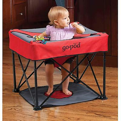 KidCo- Go Pod Portable Activity Seat for Baby - Cardinal, travel, on-the-go play