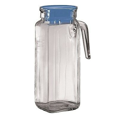 NEW BORGONOVO SQUARE IGLOO GLASS JUG Water Drink Pitcher Italian 1200ml