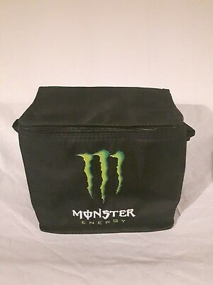 monster energy cooler bag insulated black with green logo  new