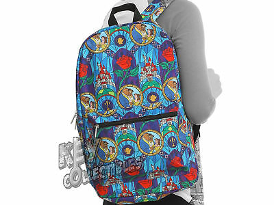 Loungefly BEAUTY AND THE BEAST STAINED GLASS Backpack  - NEW - BACK TO SCHOOL