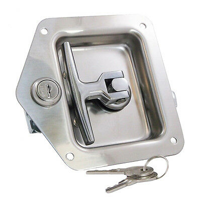 Stainless T Latch Tool Underbody Box Wrecker Pickup Flatbed RV Work Truck Bed