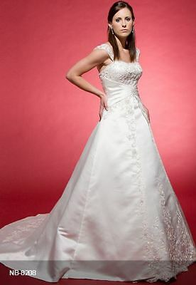 Strapless satin bridal gown with beautiful embroidery (was $1815.00) NB-8208