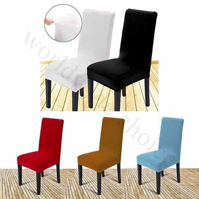 2/4/6Pcs Removable Stretch Slipcovers Chair Covers Dining Lycra Spandex Seat Red