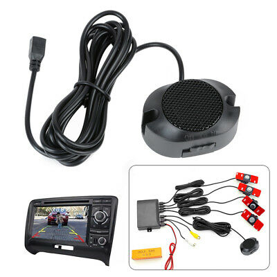 Car Parking Sensor System Rear View Backup Radar Alarm Kit 16MM 12V Flat Reverse