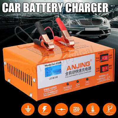 12V/24V 200AH Electric Car Battery Charger Automatic Intelligent Pulse Repair