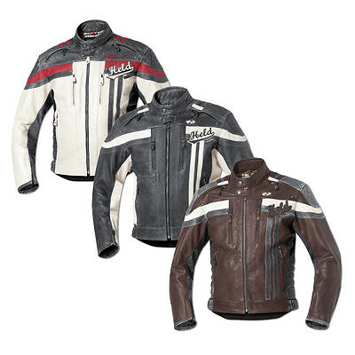 Held Harvey 76 Motorcycle Motorbike Mens Leather Jacket All Colours & Sizes