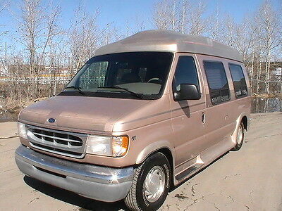 Ford: E-Series Van Raised Roof Conversion 1998 Ford E-150 Turtle Top Van Conversion, Mint, Low Low Miles