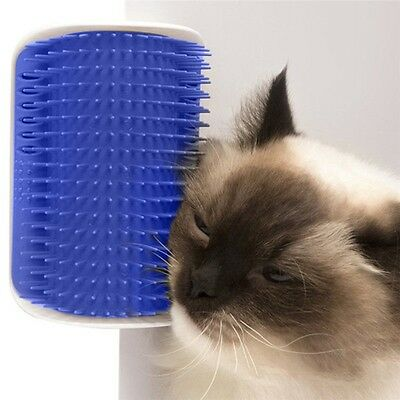 1Pc Pet Cat Self Groomer Brush Wall Corner Grooming Massage Comb Toy With Catnip