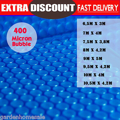 Solar Swimming Pool Cover 400 Micron Isothermal Outdoor Bubble Blanket Many Size