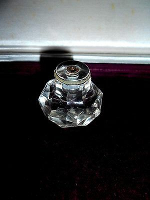 Old Vintage Door Knob Faceted Glass Handle