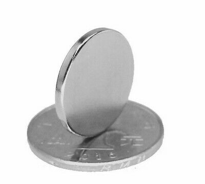 Rare Earth Magnets 20mm x 2mm Disc N50 Neodymium Super Strong Round Fridge