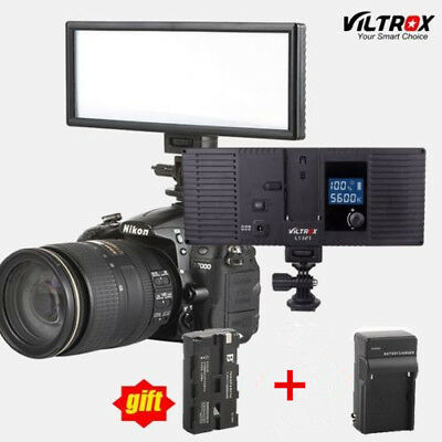 Viltrox 132 LED Slim LED 5600K/3300K Studio Video Camera Light+ battery+charger