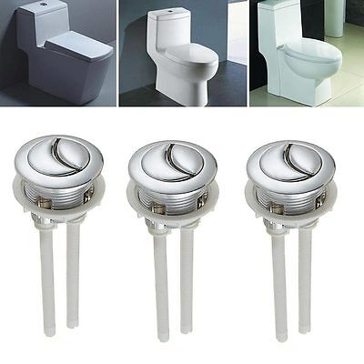Universal Dual Type Flush Toilet Water Tank Push Button Fits 38mm Hole Tackle