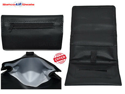 Soft PU Shine Leather Tobacco Pouch Fully Lined Black Colour Great Quality NEW U