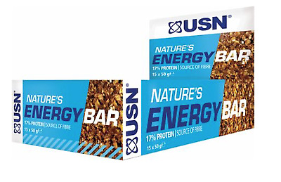 USN NATURE'S ENERGY BARS 24x30g 17% protein  FAST DELIVERY SHORT DATED