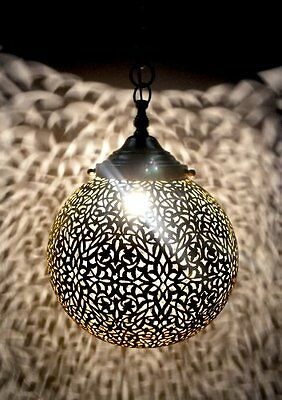 Ball Shape Large Moroccan solid antique brass ball ceiling lantern- Hand