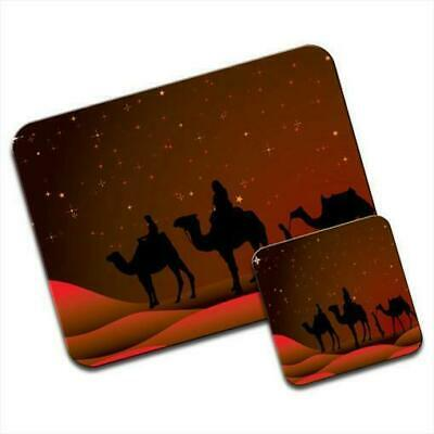 Following The Star To Bethlehem On Camels Mouse Mat / Pad & Coaster