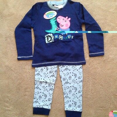 Peppa dinosaur sleepwear set size 5