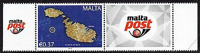 Malta 2015 Se-Tenant 37c Re-Print Unmounted Mint