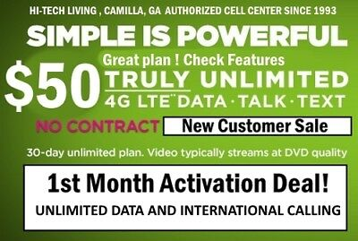 50% OFF 1st Month $50 SIMPLE MOBILE FIRST MONTH with FREE ACTIVATION SALE