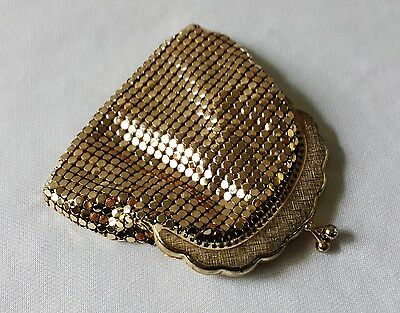 Vintage C1970's Oroton Gold Glomesh Small Coin Purse - Made In Australia