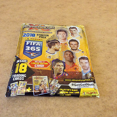 Fifa 365 Adrenalyn Xl 2018 Trading Card Starter Pack Limited Edition Card Fifa