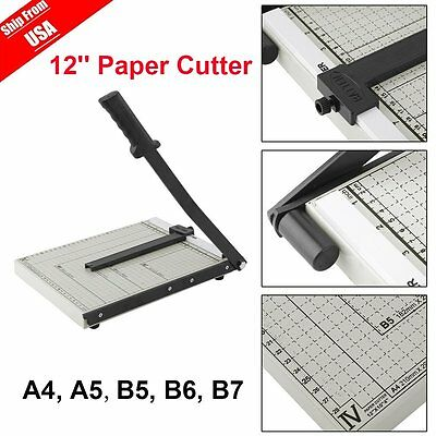 10'' x 12'' Paper Cutter Metal Base Industrial Commercial Trimmer Heavy Duty AS