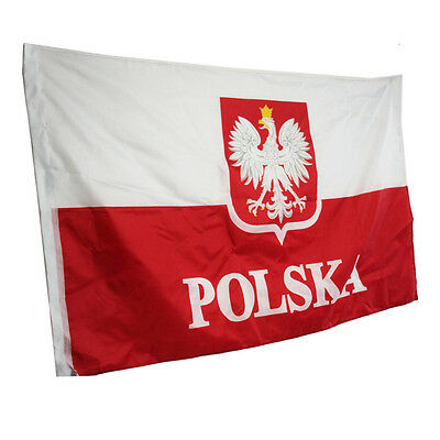 Old Poland Flag Polish White Eagles EU Indoor Outdoor 90*150cm Hanging Office