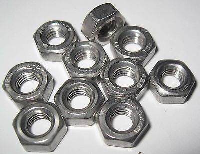 BSF Full Nuts - Stainless steel 1/4, 5/16, 3/8