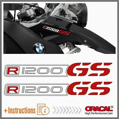 2x R1200GS White/Red BMW ADESIVI R1200 GS PEGATINA STICKERS AUTOCOLLANT R 1200