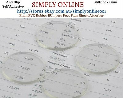 Clear Anti Slip Self-Adhesive Plain PVC Rubber Bumpers Feet Pads Shock Absorb