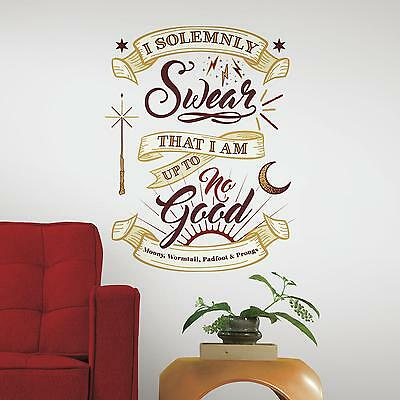 HARRY POTTER MARAUDERS MAP WALL DECALS Mural Giant Quote Stickers NEW Decor