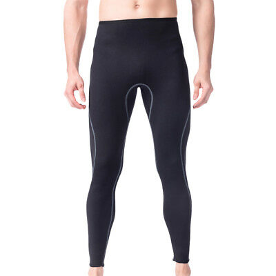 Men Wetsuit Pants 3mm Neoprene Warm Scuba Snorkel Surfing Diving Trousers M L XL