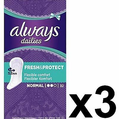 Always Dailies Panty Liners Normal Fresh & Protect Odour Neutralising - 96 Pack