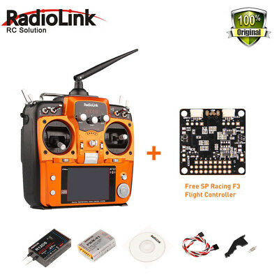 RadioLink AT10 II 2.4Ghz 12CH Remote Transmitter R12DS Receivers For RC drone
