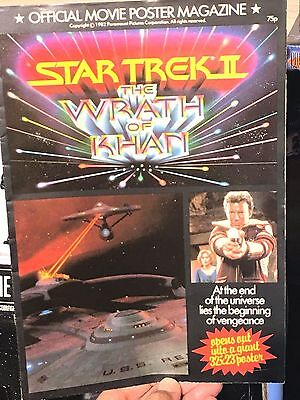 Star Trek II The Wrath Of Khan Official Poster Magazine Issue 1982 VG Condition