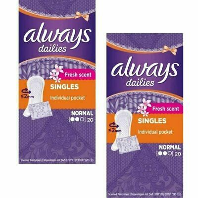 Always Dailies Panty Liners Normal Fresh Scent Individually Wrapped - 40 Pack
