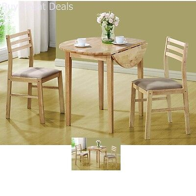 DINETTE SETS For Small Spaces 3-Piece Breakfast Table And Chairs Set ...