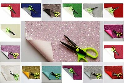 A5 Glitter sheets Fine and Chunky Material Fabric For crafts Hair Bow Making