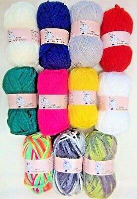 Woolyhippo Super Chunky Yarn Acrylic Wool Soft Nylon Baby 100g Knitting Crochet