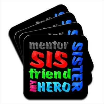 Sister Sis Mentor Friend My Hero Birthday Gift Set Of 4 Coasters