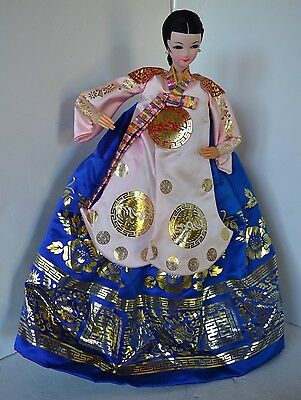 Outstanding Vintage Asian Oriental Chinese Dragons Gold Doll